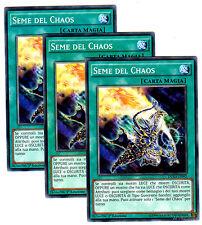 set 3X SEME DEL CHAOS DUEA-IT092 Comune in Italiano YUGIOH