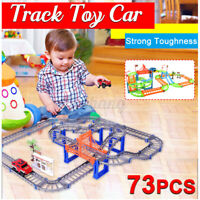 Children's Toy Car Track Amazing Track Car Assembled Electric High-speed Track