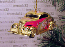 #99 EXIDE '37 FORD COUPE 1937 GOLD PINK CHRISTMAS TREE ORNAMENT XMAS