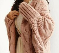 Knitted Sweaters Cardigans For Women Batwing Long Sleeve Crochet Pullovers Wears