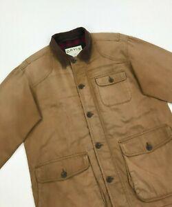 Men's Camel Orvis Barn Jacket Medium M Hunting Corduroy Collar Pockets Lined B/C
