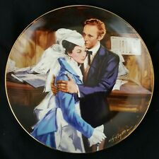 """""""Gone With The Wind"""" Collector Plate """"A Question of Honor"""" W.L. George COA+Box"""