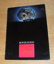 Rover 2000 Brochure 1970-1971 - 2000 SC - 2000 TC - 2000 SC Automatic