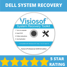 DELL System Recovery Boot Repair Restore CD DVD Disc Windows 10 8 7 Vista XP