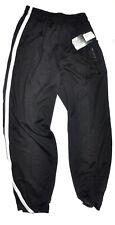 And1 Basketball Pants Black Pockets Zip Cuffs Gray Stripe Sz Medium NWT