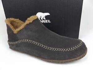 SOREL Men's Manawan II Comfort Slipper, Indoor/Outdoor SZ 14.0 M, Gray Suede NEW