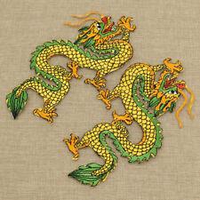 1 Paar Bestickt Drache Form Chinesische Stil Vintage Patch Applikation Aufnäher