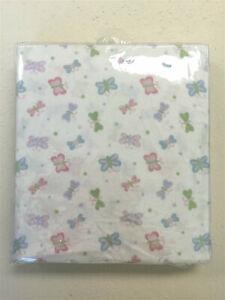 100% Cotton Fitted Crib Sheet, Butterflies