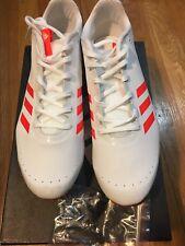 NEW Adidas Men's Sprintstar Track & Field Shoes White/ Orange Size 12