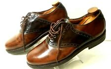 Johnston & Murphy Mens Passport Saddle Shoes Size 9.5 M Oxfords Made in Italy