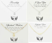 Silver And Gold Plated Inspirational Message Card Necklace Jewellery UK Seller