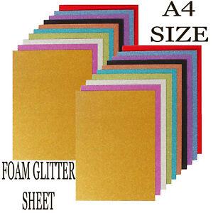 Plain Glitter Fabric  Sheets FOAM SHINING Crafts Sheets