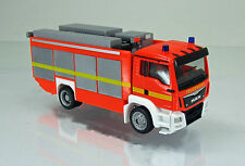 Herpa 091077 002 MAN TGS M Euro 6 Rüstwagen Feuerwehr leuchtrot neutral 1 87