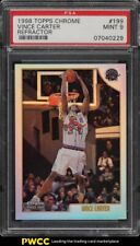 1998 Topps Chrome Refractor Vince Carter ROOKIE RC #199 PSA 9 MINT