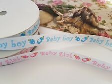 4M LENGTH BABY BOY OR BABY GIRL RIBBON, NEW BABY SHOWER DECORATION, PRESENTS