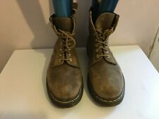DR MARTENS GENUINE LEATHER SIZE 12 MILITARY MENS GENTS BOOTS SHOES DOC BROWN TAN