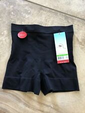 Spanx Women Large Black Sleek Slimmers Girl Shorts F1