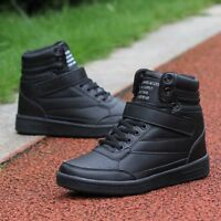 Women's Sports Athletic Casual Shoes High Top Hidden Wedge Heel Sneakers Comfy