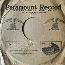 """PARAMOUNT RECORD orig 1920s pre-war 10"""" 78rpm Jazz/BLUES/Vocal COMPANY SLEEVE"""