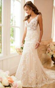 Stella York Wedding Dress #6643 - Ivory/Champagne- Size 14 - New