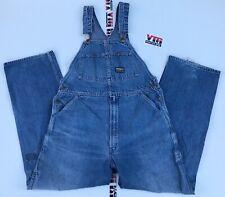 Vintage OshKosh B'Gosh Bib Cotton Overalls Vestbak 36 x 32 Usa Union Made
