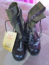 U.S. Army Issue Tropical Combat Boots, dated 1968.