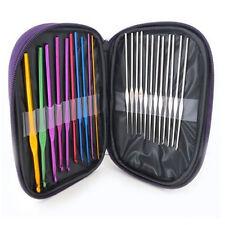 New 22PCS Crochet Hooks Knit Stainless Steel Knitting Needles Weave Weaving