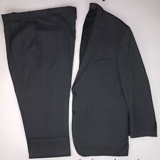 Jos A Bank 50L Suit Gray Herringbone Two Button Mens Wool Long Size Signature Sz