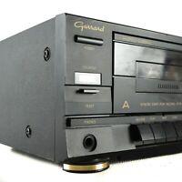 GARRARD GTD-852 Cassette Tape Deck Player Vintage Dual Black Recorder