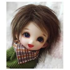 [wamami] Perruque/Cheveux Dollfie pukifee 1/8 court laine marron foncé BJD 14 cm AE lati