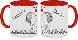 Tassen Twinset rot - Männerpärchen