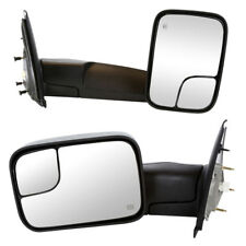 2002-08 Dodge Ram 1500 2500 3500 Towing Power Heated Side View Mirrors Pair Set