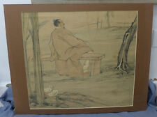 CHINESE PAINTED Scholar 19TH/20TH CENTURY Watercolor