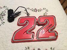 "Ward Burton SIGN #22 Red Nascar WITH CAR LIGHTER Lights UP 12"" X 8"""