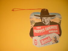 Repro 1950's Hopalong Cassidy Bond Bread Double Sided Hanging Advertisement
