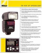 2004 Nikon Sb-600 Af Speedlight Flash Unit Specification Sheet Brochure