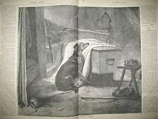 ECOSSE LE CHIEN DU MONTAGNARD L'EMPEREUR DANS LES PYRENEES GRAVURES 1859