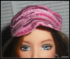 HAT BARBIE HARD ROCK CAFE DOLL PINK CAMOUFLAGE HAT CAP CLOTHING ACCESSORY ITEM