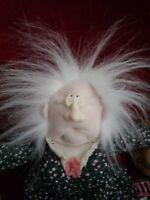 "11"" NWT Vintage Hallmark Prunella Wrinkle Fairy Stuffed Plush Doll Free Shiping"