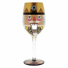Lolita Unique Hand Painted Lets Get Crackin Large Wine Cocktail Glass Bling Gift