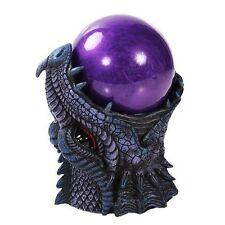 Ancient Purple Dragon Sandstorm Ball Statue Sound Sensor Figurine Collectible
