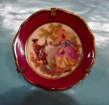 Ancienne Miniature porcelaine de limoges érotisme Fragonard amour & musique