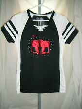 NHL Ottawa Senators Majestic Fan Fashion Womens Sequin Jersey Shirt Size Medium