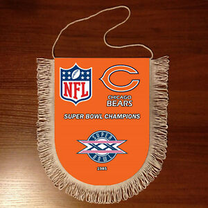 Pennants Chicago Bears SUPER BOWL CHAMPIONS NFL USA 1966-2020