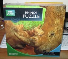 BBC EARTH JIGSAW PUZZLE ( 500 pc - RHINOS PUZZLE ) BRAND NEW & SEALED!!!