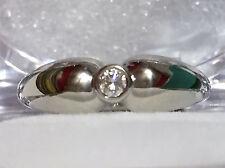 TIFFANY & CO / PERETTI PLATINUM DIAMOND SOLITAIRE ENGAGEMENT RING Size=5.25