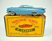 "Matchbox RW 57b Chevrolet Impala clara discos ruedas plata en ""C"" box"