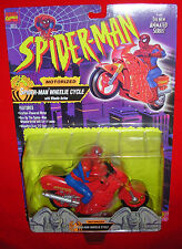 SPIDER-MAN THE ANIMATED SERIES WHEELIE CYCLE ACTION FIGURE 1994 TOY BIZ Cond. C8