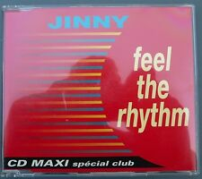 JINNY - FEEL THE RHYTHM - CDM - 3 TRACKS - EURODANCE FRANCE PANIC RECORDS - 1993