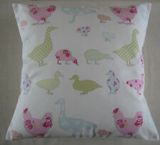 New Cushion Cover Ducks & Geese Pastel Shades Pillow Sham - Chickens -Goose